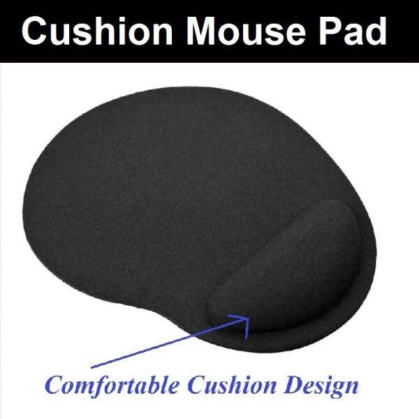 📝💻 Eva Cushion Mousepad / Wristband Gaming Mousepad / Mice Mat Comfortable for Gamer, long hour usage (Black Colour) Malaysia