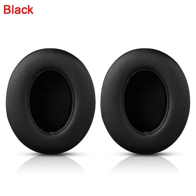 1คู่เปลี่ยนจุ�หูฟังสำหรับ Beats Studio 2 3สายหูฟังไร้สาย Ultra-ฟองน้ำเนื้อนุ่มเบาะหูฟัง�ฟชั่นสีดำ