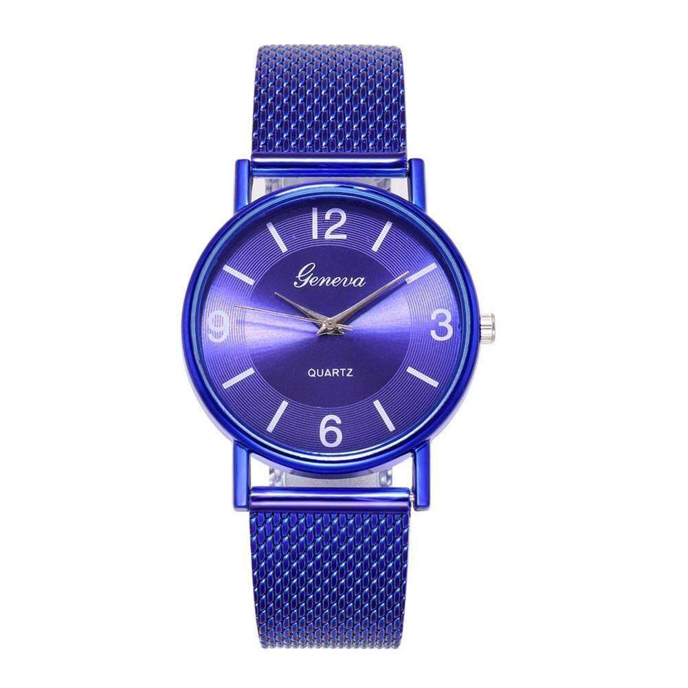 Lady Concentric Circles Quartz Watch Simple Mesh Band Analog Wristwatch Malaysia