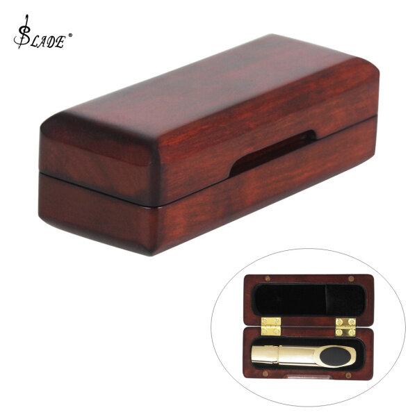 SLADE 11.3 x 4.5 x 3.7cm Rosewood Saxophone Clarinet Mouthpiece Storage Box Protect Case Lining Villi Malaysia