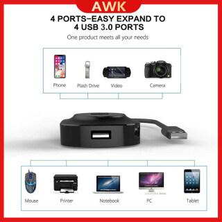 HUB USB Với Cổng Nguồn AWK-USB Siêu Nhỏ, Bộ Chia 4 Cổng USB 3.0, Bộ Chuyển Đổi OTG Tốc Độ Cao Cho Máy Tính Và Máy Tính Xách Tay thumbnail