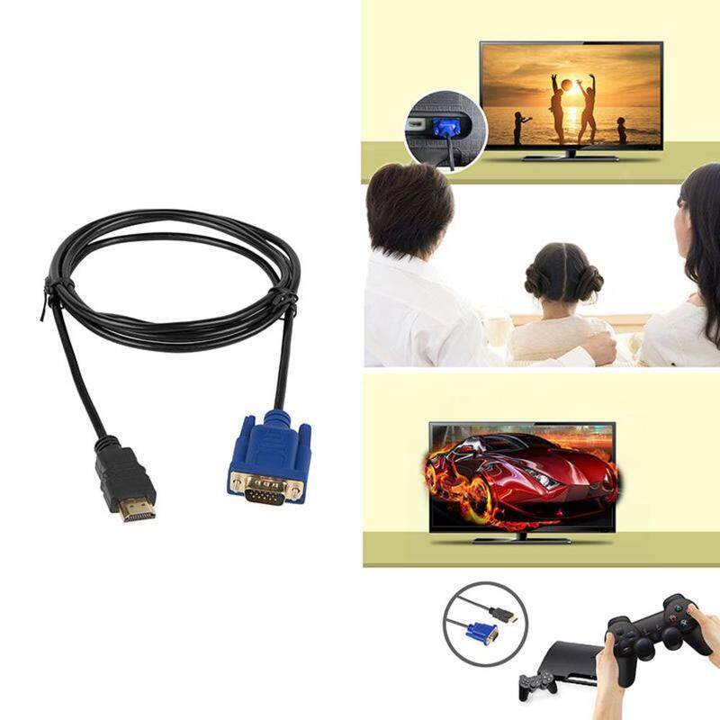 NEW HDMI Gold Male To VGA HD-15 Male 15Pin Adapter Cable 5FT 1.8M 1080P US
