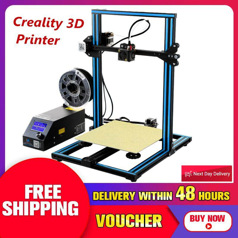 【Free Shipping + Flash Deal 】Creality 3D CR-10 Blue DIY 3D Print Machine Kit 300*300*400mm Printing Size 1.75mm 0.4mm Nozzle NEW