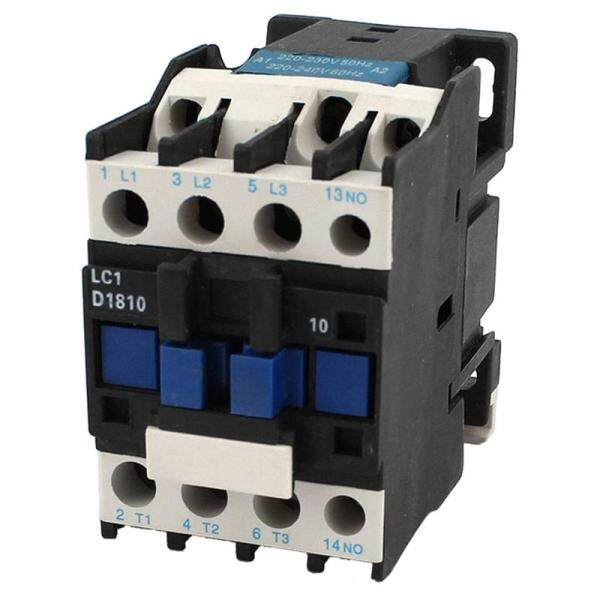 AC Contactor AC220V Coil 18A 3-Phase 1NO 50/60Hz Motor Starter Relay LC1 D1810 Black