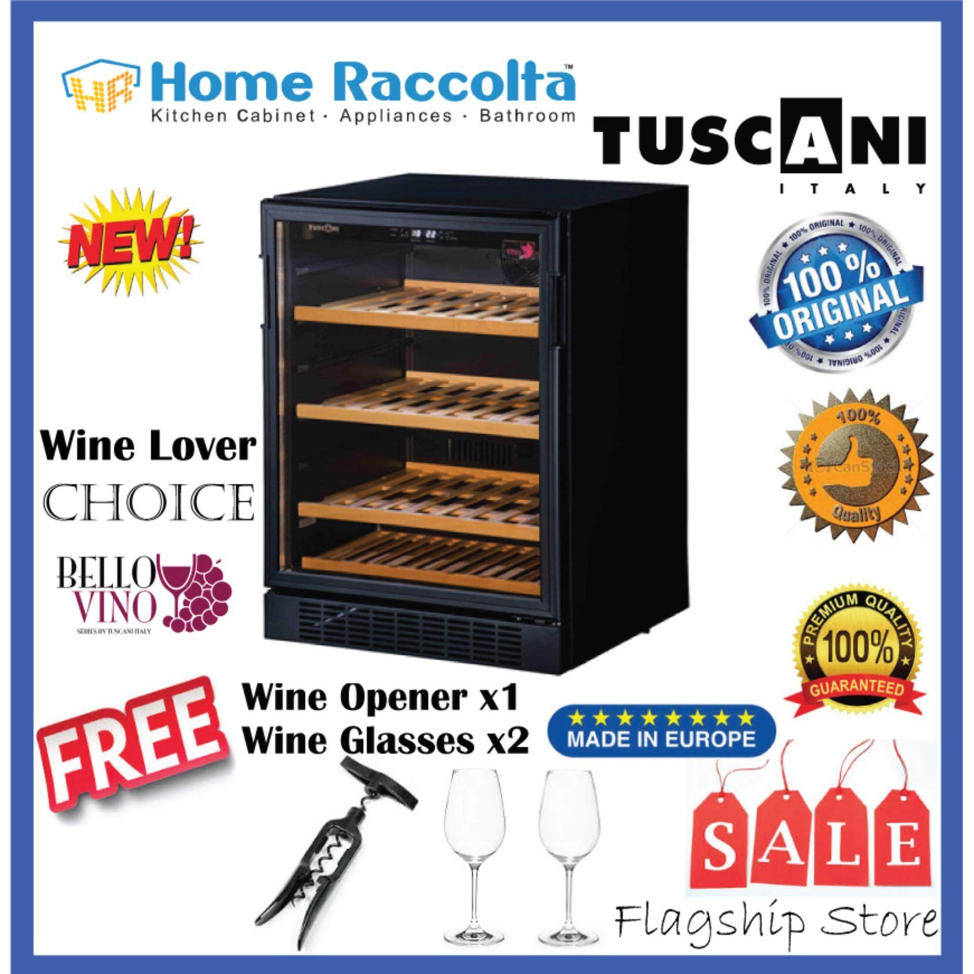 Tuscani Wine Cellar Bellona45 Wine Chiller Tsc Bellona 45 (42bottles) By Home Raccolta.