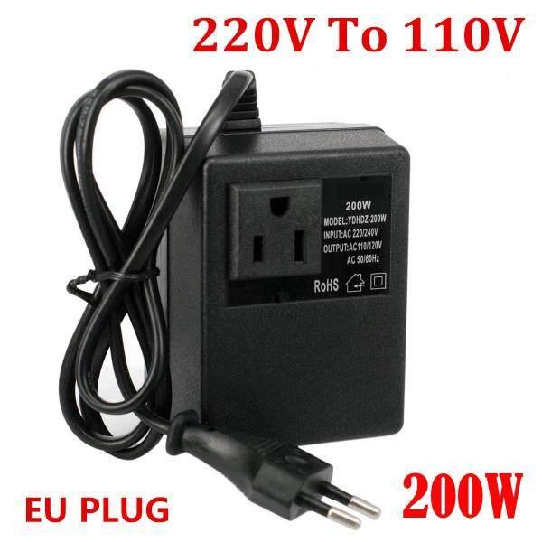 【Thương Hiệu Vanlinca】 200W EU Cắm Bộ Chuyển Đổi Điện Áp Nhỏ Gọn Biến Áp 220V Sang 110V Bước Xuống Du Lịch