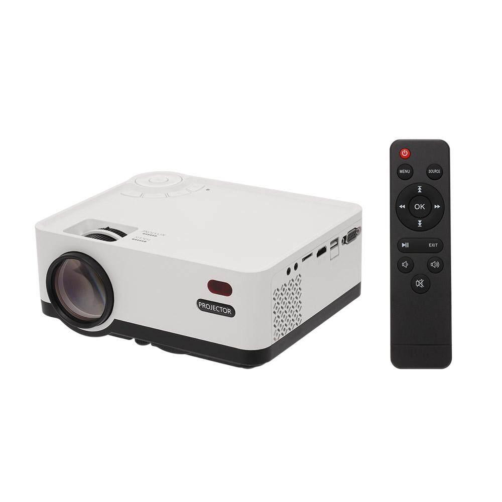 Multimedia Mini L-ED Projector 800x480 2800 Lumens Private Cinema HD IN VGA AV USB Remote Controller for Notebook Laptop DVD Player EU Plug