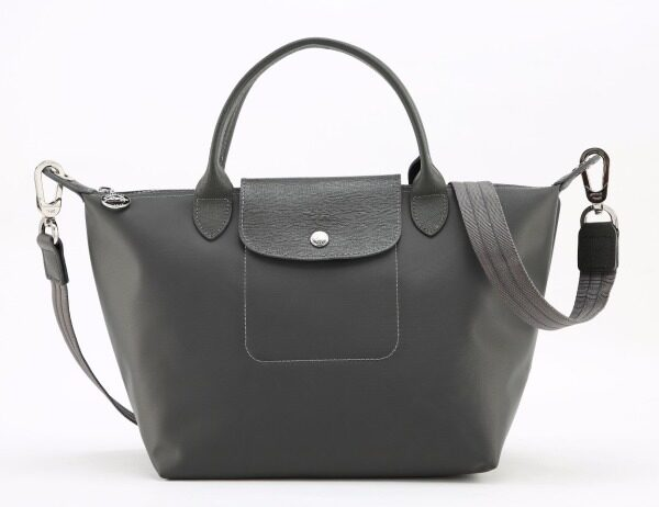 100% authentic longchamp_le pliage neo_Thick nylon bag-L1512578897- Deep Gray small_Shoulder Bag_Crossbody bag _handbag _Waterproof Dumpling Bag_Fashion casual backpack-Made in France
