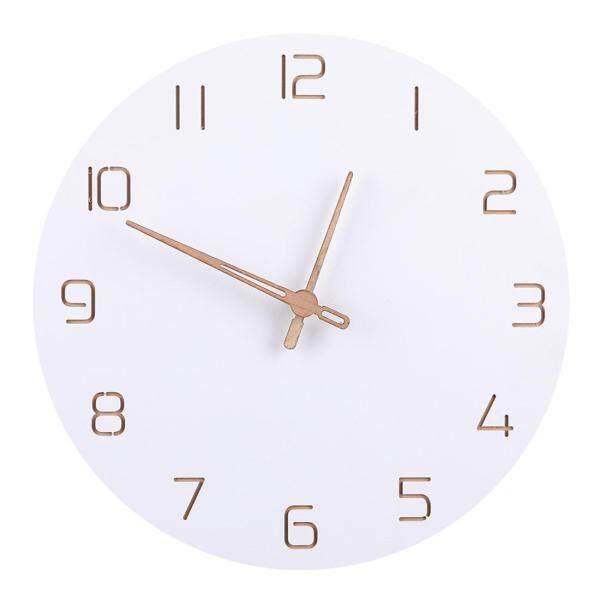 29cm Nordic Style Fashionable Simple Silent Wall Clocksfor Home Decor Pure White Type Wall Clock Quartz Modern Design Timer