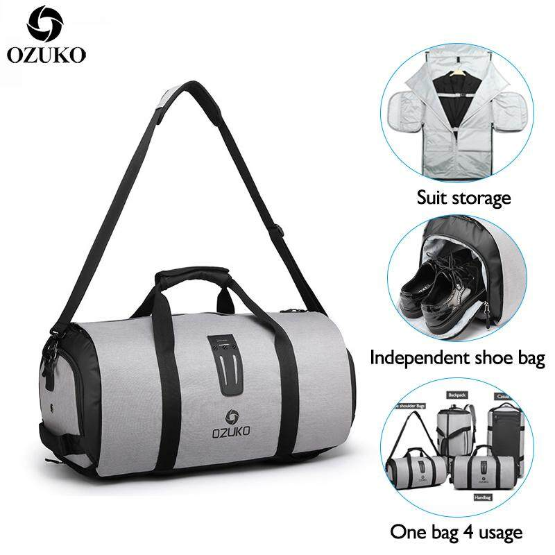 LOSELF - OZUKO Waterproof Oxford Travel Duffle Bag Fashion Sport Gym Bag Casual Outdoor Storage Bag Large Capacity Business Bag Multifunction Luggage Bag - Q9209