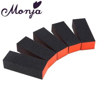 5 cái giũa móng làm bằng mút xốp và giấy nhám dùng để mài đánh bóng móng khi sơn gel (kích thước 14 10 3cm) - INTL thumbnail
