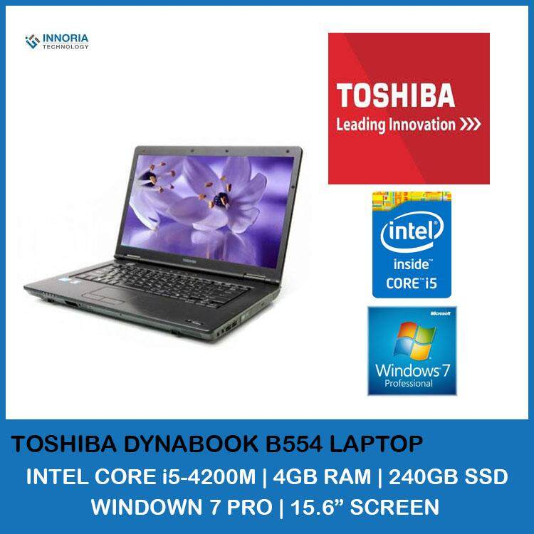 (Refurbished Laptop) Toshiba Dynabook Satellite B554 Notebook / 15.6 inch LCD / Intel Core i5-4200M / 4GB Ram / 240GB SSD / WiFi / Windows 7 Malaysia