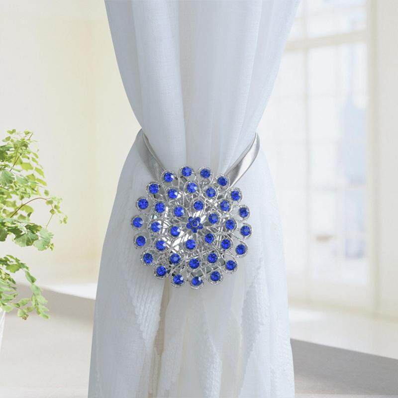 Darahry Crystal Curtain Straps Creative European Decorative Curtain Buckle Free Punch Hook Wall Hook Magnet Strap 1Pcs-In Curtain Decorative Accessories