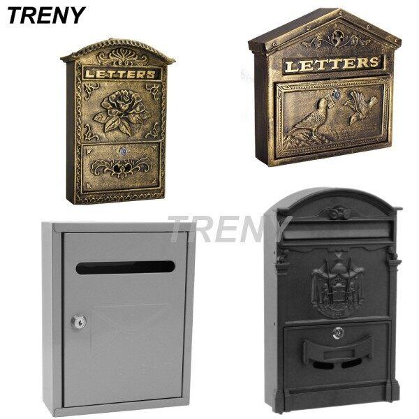 TRENY Europe Mail Box Post Letter Box/ Iron Mail Box/ Besi Plastik/ Mailbox/ Letterbox 3475-7527-7534
