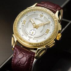 Đồng hồ đeo tay doanh nhân dạ quang chất liệu dây da chống nước kiểu dáng đơn giản dành cho nam – INTL