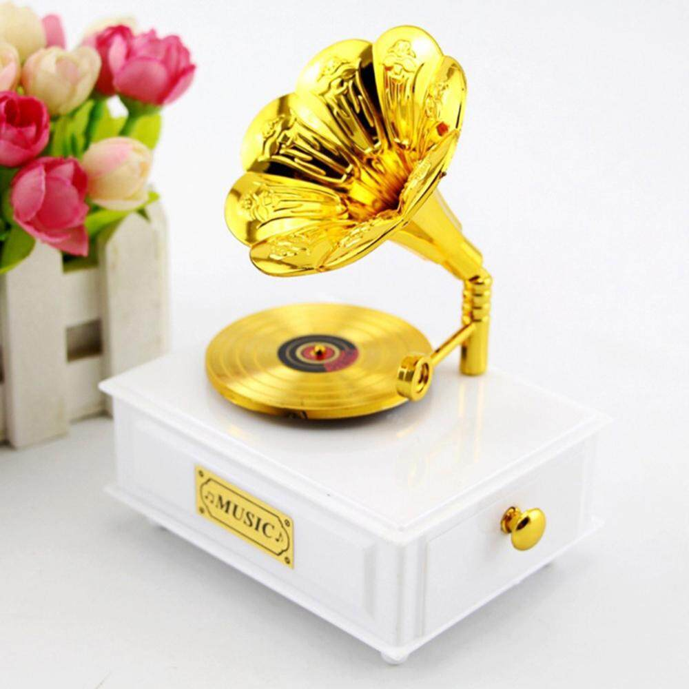 Finether Creative Elegant Retro Gramophone Music Box
