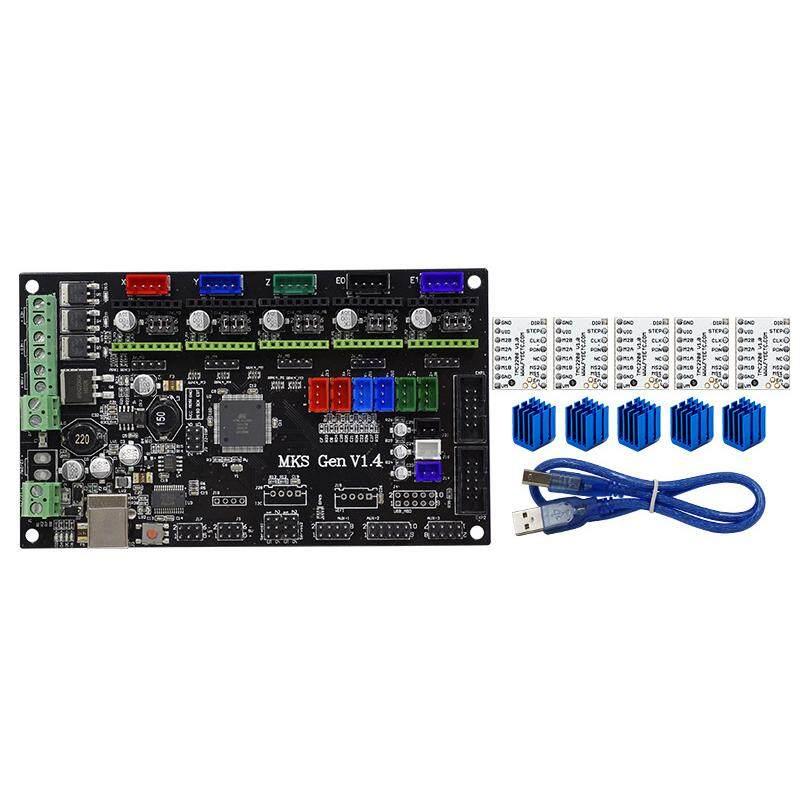 MKS Gen V1.4 4 layers PCB 3D printer kit with MKS Gen V1.4 RepRap board +5pcs TMC2208 Stepstick Drivers With Heatsink
