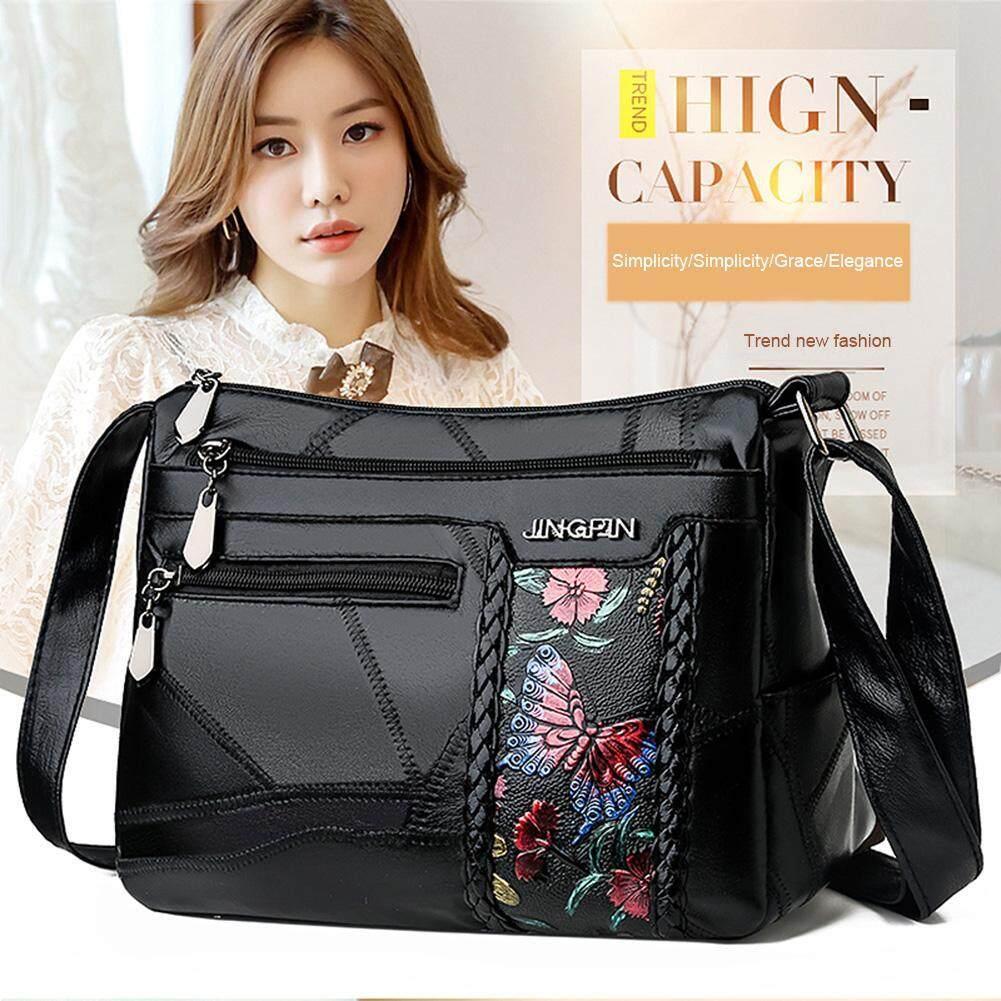 Hot Sale Handbags Fashion Women Shoulder Sling Bags Leather Multi-pocket Elegant Messenger Handbag for Hiking and Travel