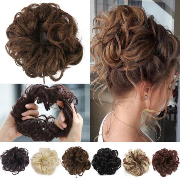 zhongcui Búi tóc xoăn chất liệu chịu được nhiệt độ cao kích thước 9.5*6 inch dùng hàng ngày đi làm tiệc tùng vũ hội đám cưới và những dịp đặc biệt giá rẻ