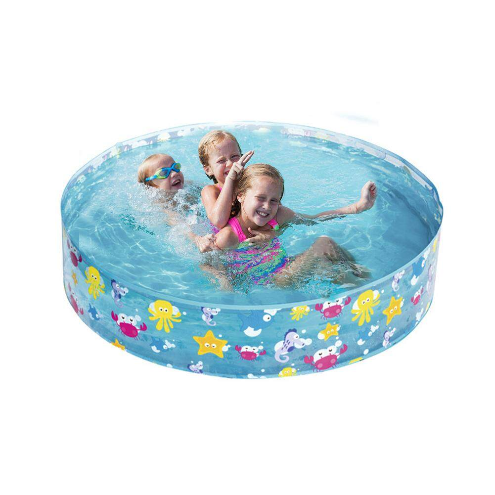 122*25CM Kids Inflatable Swimming Pool Marine Ball Pool Hard Rubber Round Infant Tub