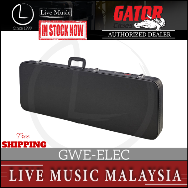 Gator GWE-ELEC Hard-Shell Wood Case for Electric Guitar (GWEELEC/GWE ELEC) Malaysia