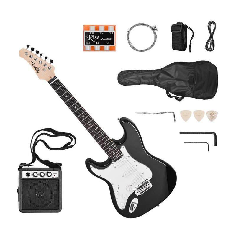 Muslady Electric Guitar Solid Wood Paulownia Body Maple Neck 21 Frets 6 String left hand Malaysia