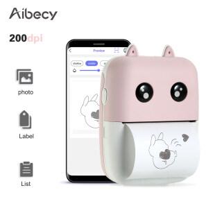Máy in nhiệt mini không dây tích hợp pin lithium 1000mAh độ phân giải dpi 200 chiều rộng giấy 58mm tương thích với các hệ thống Android và iOS thumbnail