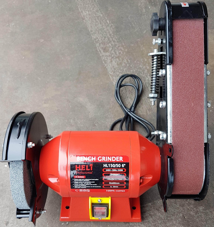 sander sanding belt conveyer bench grinder stone tool machine motor electric set kit