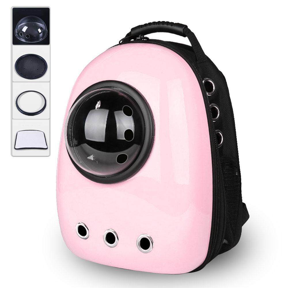 Nicetoempty Pet Bubble Backpack,portable Breathable Pet Travel Carrier Space Capsule For Cats Dogs, Capsule Style Lined With Absorbent Pads By Nicetoempty.