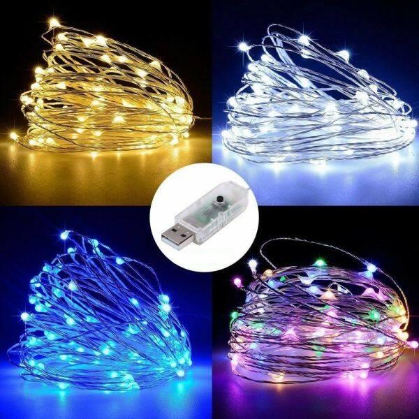 Bảng giá Dây Đồng Giữ Ấm (USB) Đèn LED Dây, Đèn LED Dây Cho Kỳ Nghỉ Không Thấm Nước Đèn Trang Trí Tiệc Cưới Cây Giáng Sinh Cổ Tích