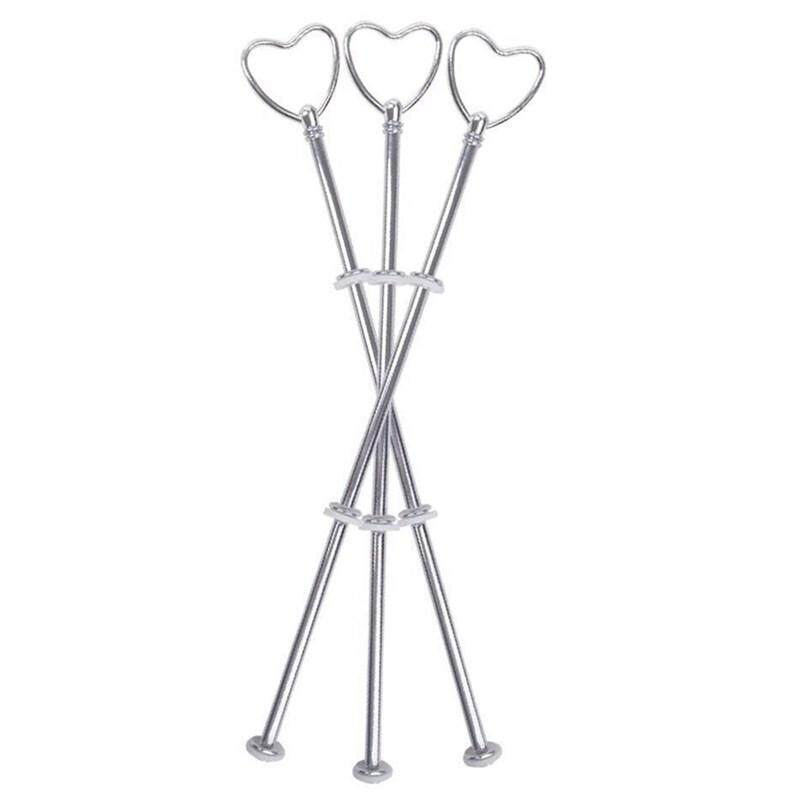 3 silver heart metal rod center hole cookie until wedding cake cake stand cake holder cake # 60