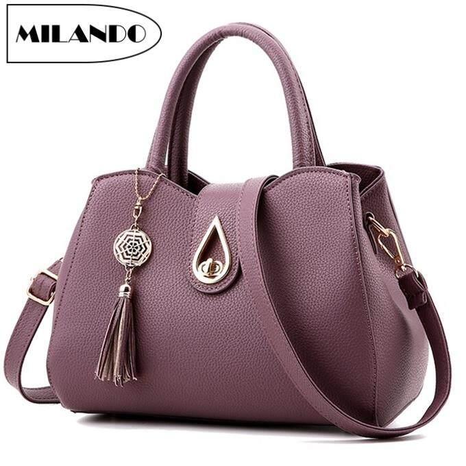 efee4267694e95 MILANDO Ladies Women PU Leather Handbag Tote Sling Bag Handbeg Beg Wanita  (Type 9)