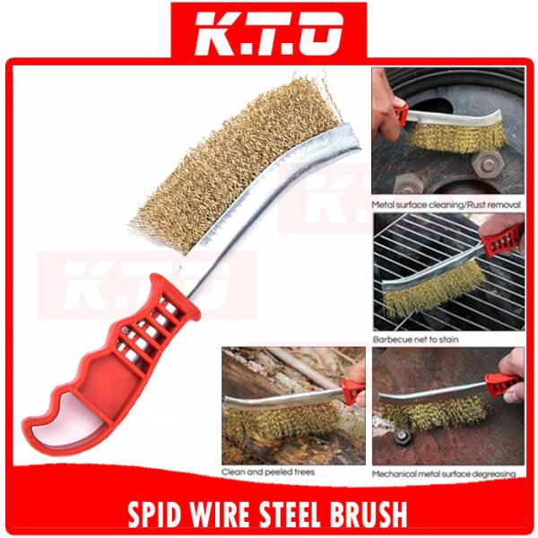 HEAVY DUTY SPID WIRE HAND BRUSH STEEL BRISTLES CLEANING RUST REMOVAL / Berus Besi