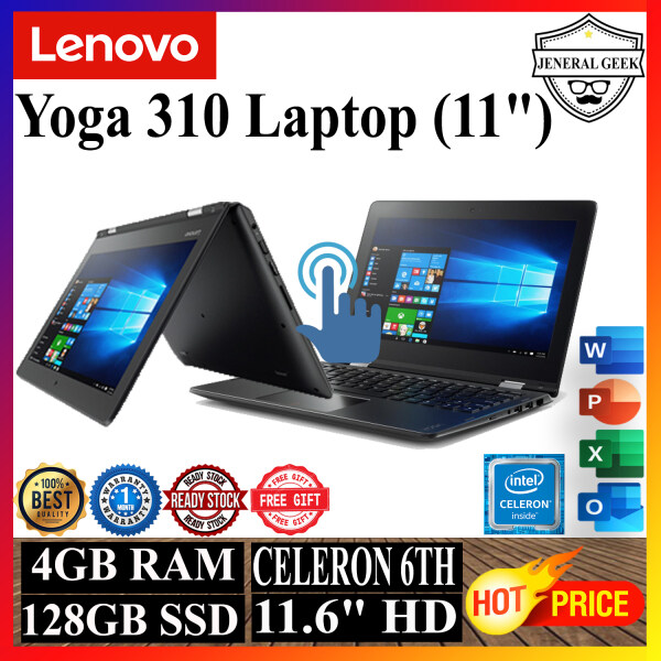 Lenovo Yoga 310 Laptop (11) Intel® Celeron® 6th N3350 4 GB DDR3L 128 GB SSD (USED) Malaysia