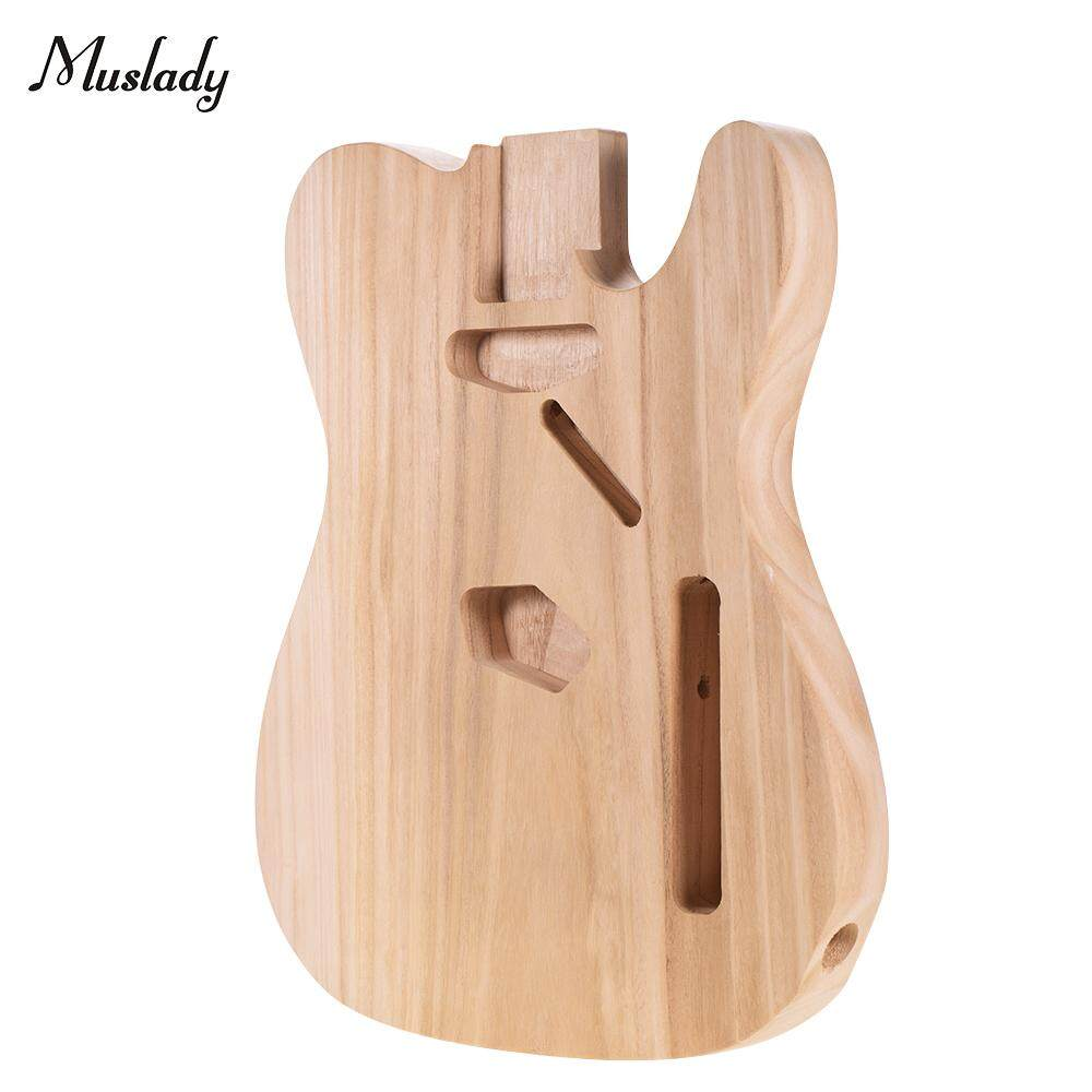Muslady TL-T02 Unfinished Electric Guitar Body Sycamore Wood Blank Guitar Barrel for TELE Style Electric Guitars DIY Parts