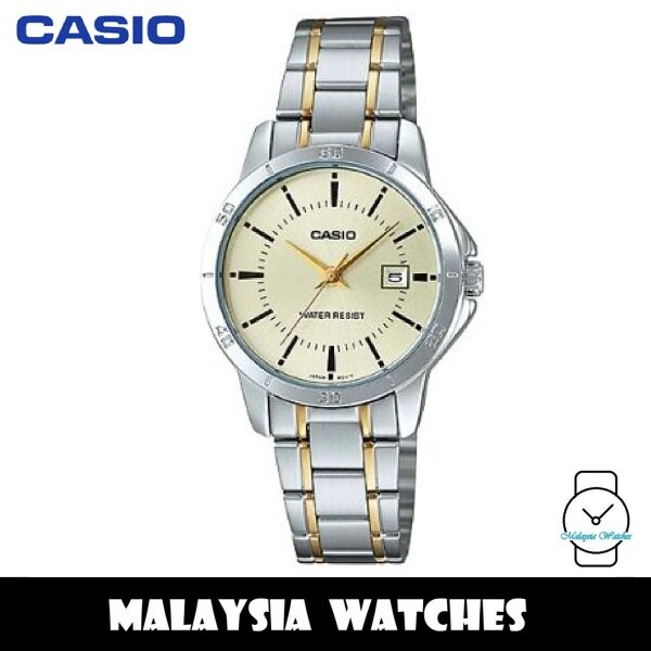 (100% Original) Casio LTP-V004SG-9A Quartz Analog Two-Tone Stainless Steel Ladies Watch LTPV004SG LTPV004SG-9A LTP-V004SG-9AVDF Malaysia