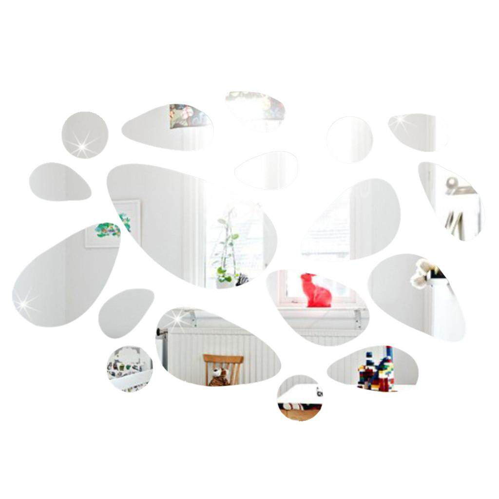Acrylic Mirror Decal Art Mural Wall Stickers Home Decor DIY Room Decoration