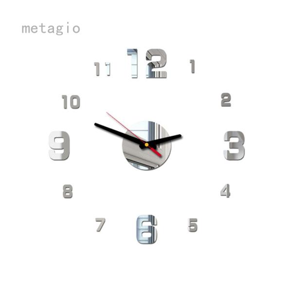 Nơi bán Metagio Hàn Quốc Thời Trang Acrylic Gương Đồng Hồ Treo Tường 3D Cá Tính Tường Sticker Đồng Hồ Trang Trí Nhà