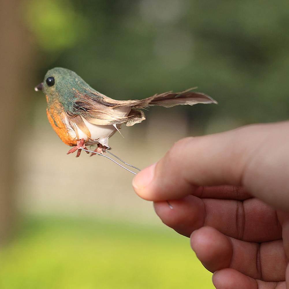 HT 12 Nhân Tạo Bọt Lông Mô Phỏng Robin Chim Treo Mặt Dây Chuyền Cây Trang Trí Giáng Sinh