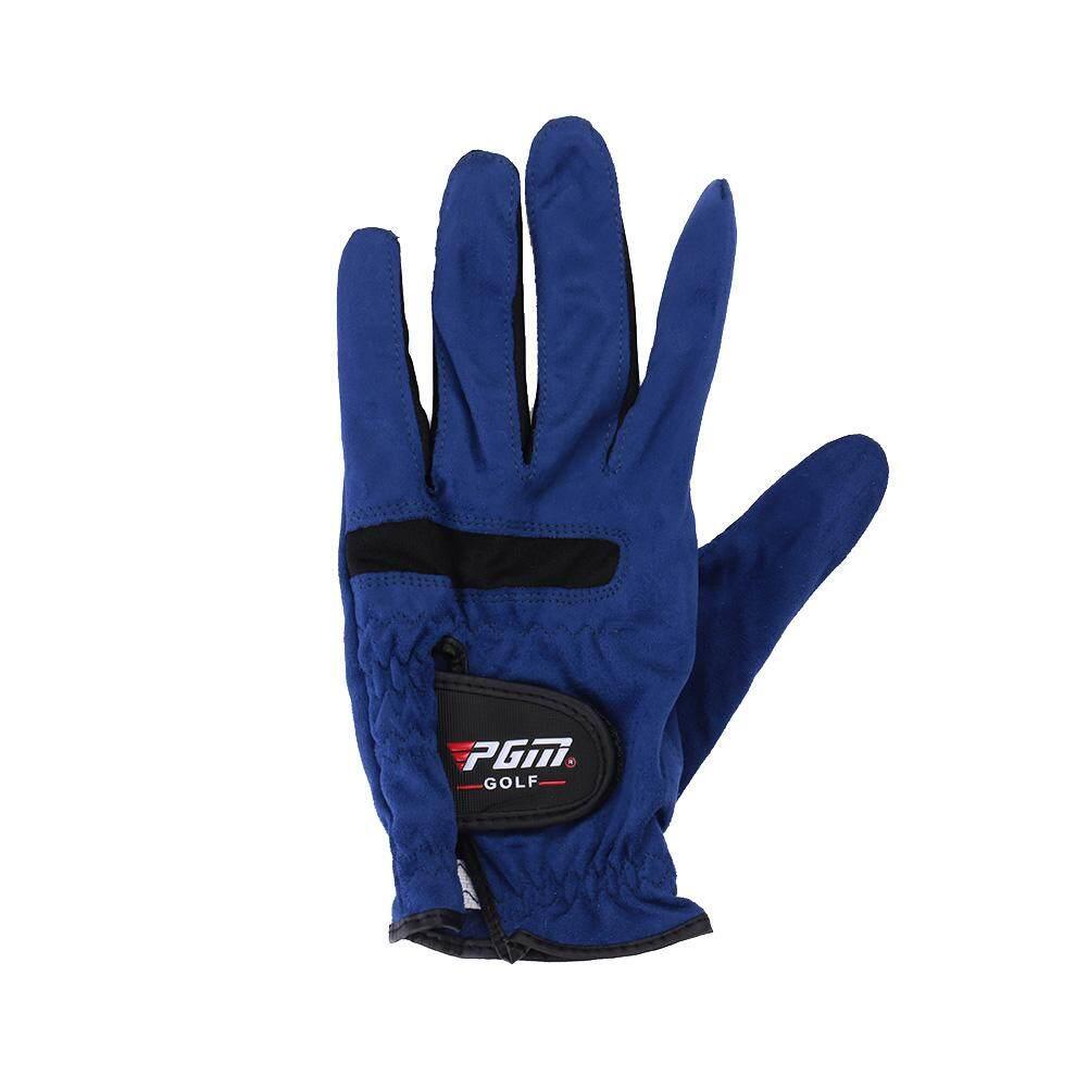 ชายสีฟ้า Premium Cabretta นุ่มถุงมือกอล์ฟถุงมือขนาด 23 24 25 26 27 หลา By Gogostore.