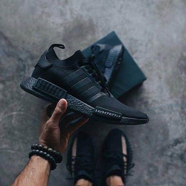 การใช้งาน  อุดรธานี รองเท้า Adidas NMD R1 Primeknit ญี่ปุ่น Pack Triple สีดำ