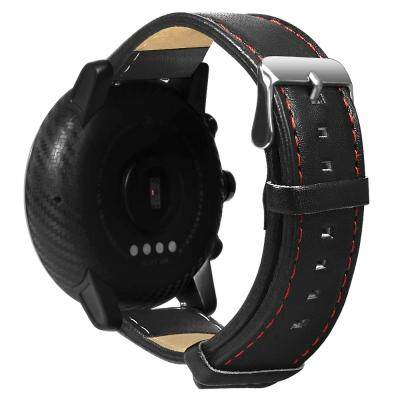 MediMart Leather Watch Strap Band 22mm (BLACK) Malaysia