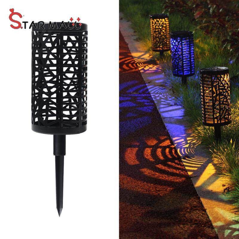Star Mall LED Solar Energy Hollow Out Lawn Lamp For Garden Courtyard Landscape Street Light