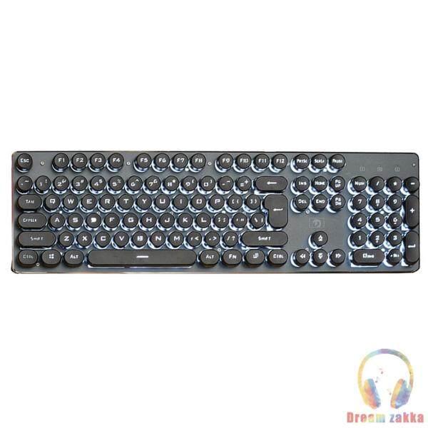 K100 Steampunk Retro Keycap USB Wired Backlit Gaming Mechanical Keyboard Singapore