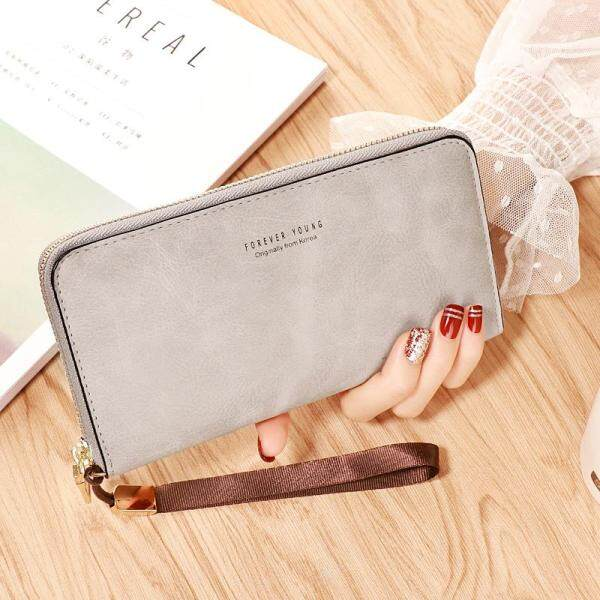 Forever Young Women Wallet Ladies Zip Purse HandBag Clutch Leather Pouch