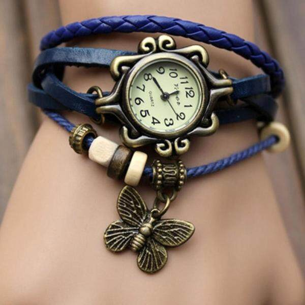 SUNNY 1PC Women Fine Butterfly Pendant Retro Multi-layer Bracelet Watch Malaysia