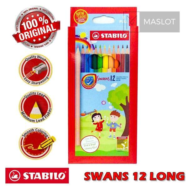 Stabilo Schwan Swans 12 Long Coloured Pencils (1877) By Maslot