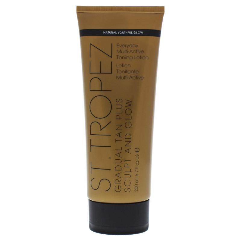 Buy Gradual Tan Plus Sculpt and Glow Everyday Multi-Active Toning Lotion by St. Tropez for Unisex - 6.7 oz Bronzer Singapore