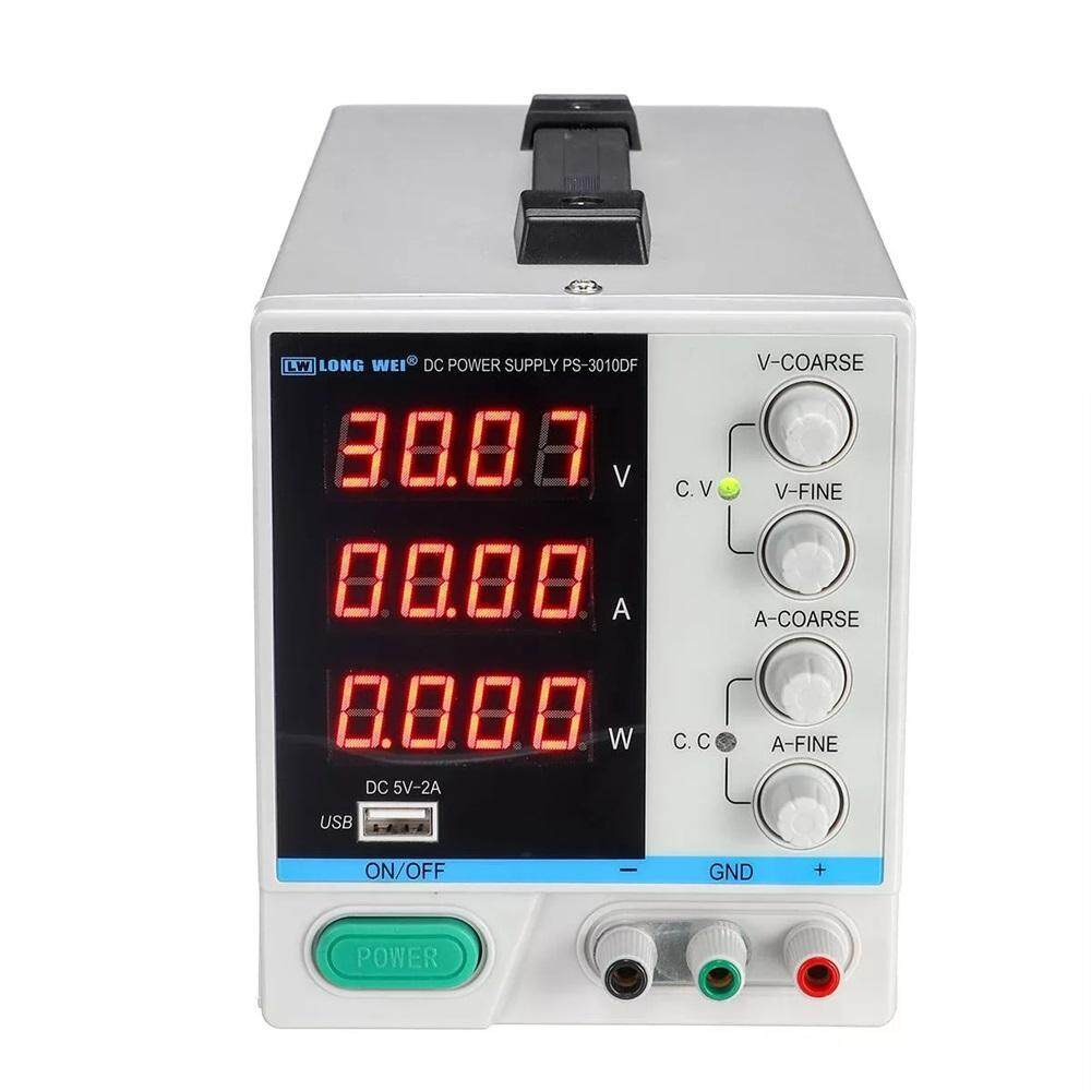 LONG WEI PS-3010DF 110V/220V 30V 10A Adjustable LED Digital Display DC Power Supply Switching Regulated 5V 2A USB Power Supply