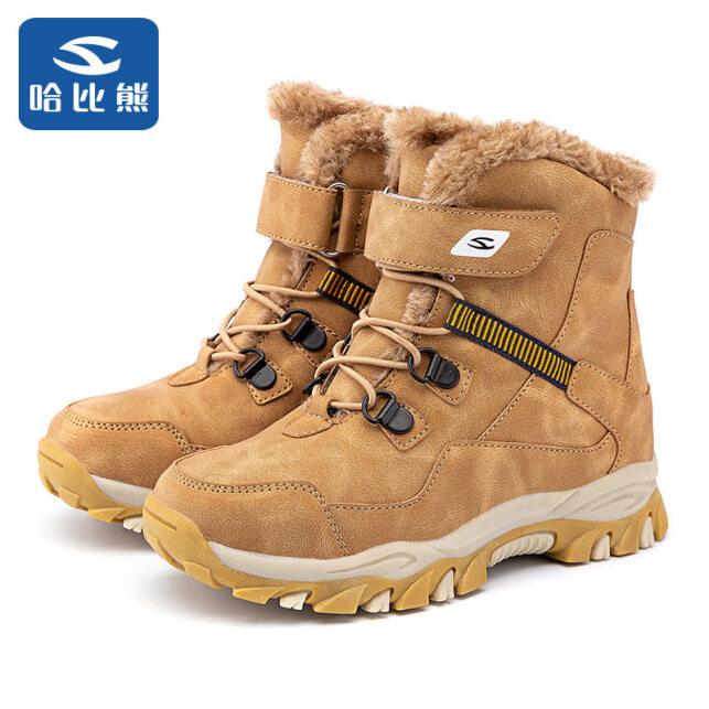 Ychion Trẻ Em Da Giữa Chống Thấm Nước Đi Bộ Đường Dài Boot Cổ Ngắn Tăng Mùa Đông Ấm Giày Vải Cotton Cổ Chân Giày Cho Bé Trai Bé Kid big Kid 28-41 giá rẻ